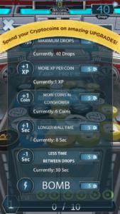 Mobile8 cryptocoin drop screenshot
